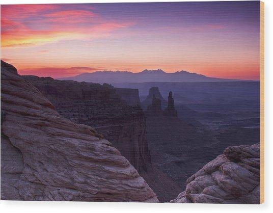 Canyonlands Sunrise Wood Print
