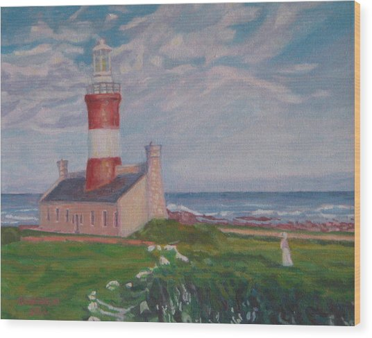 Cape Aghulas Lighthouse Wood Print