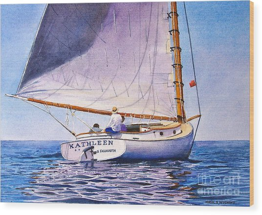 Cape Cod Catboat Wood Print