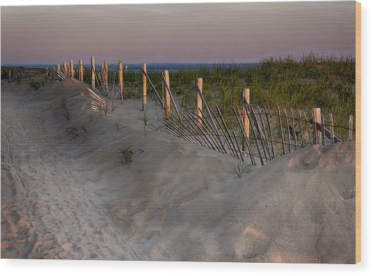 Cape Cod Dawn Wood Print