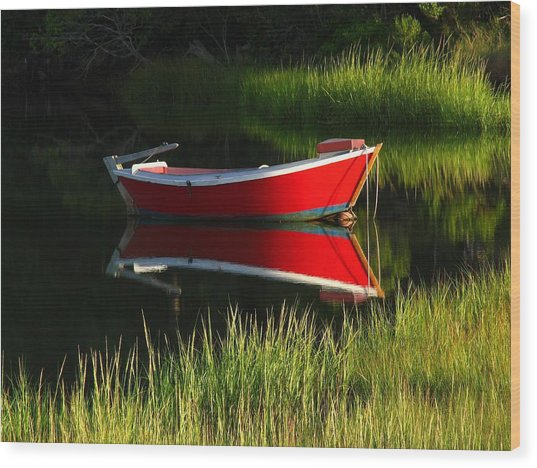 Cape Cod Solitude Wood Print