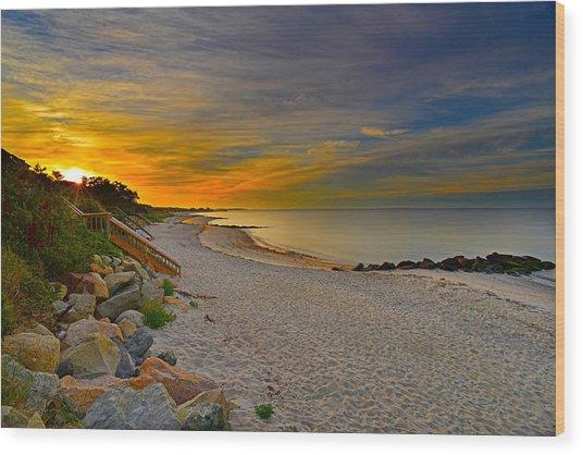 Cape Cod Sunrise #1 Wood Print