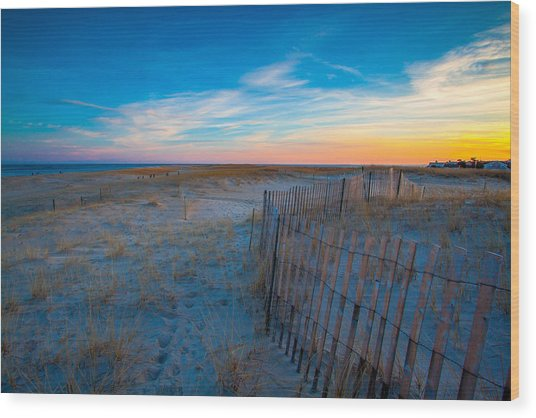 Cape Cod Sunset Wood Print