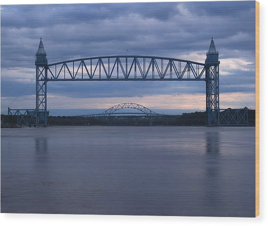 Cape Cod Train Bridge Wood Print