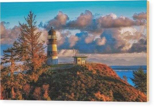 Cape Disappointment Light House Wood Print