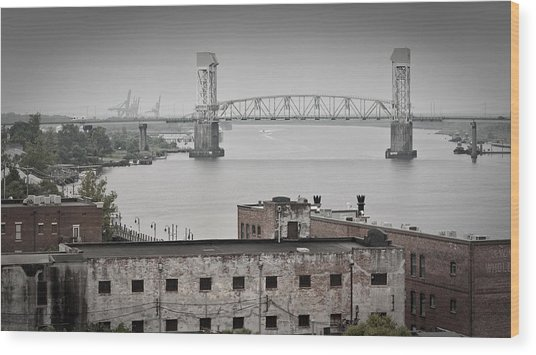 Cape Fear River - Photography By Jo Ann Tomaselli Wood Print