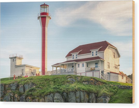 Cape Forchu Lighthouse Wood Print