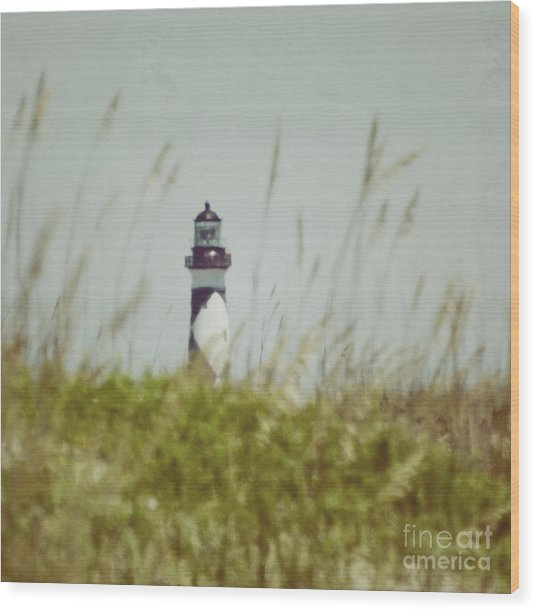 Cape Lookout Lighthouse - Vintage Wood Print