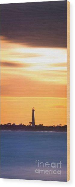 Cape May Lighthouse Narrow Long Exposure  Wood Print