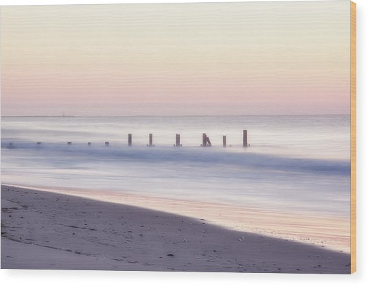 Cape May Ocean Dawn Wood Print