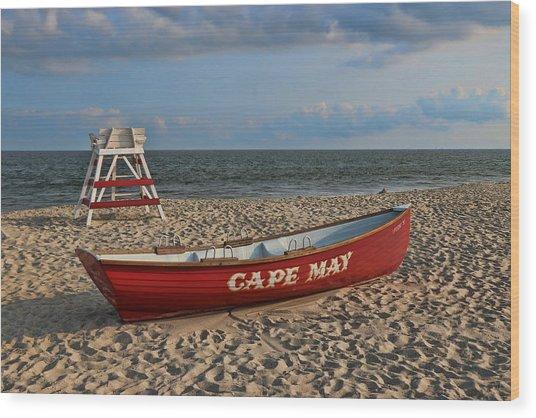 Cape May N J Rescue Boat Wood Print