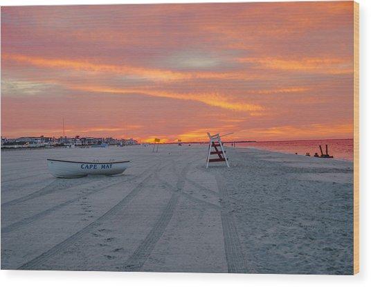 Cape May Seascape Wood Print
