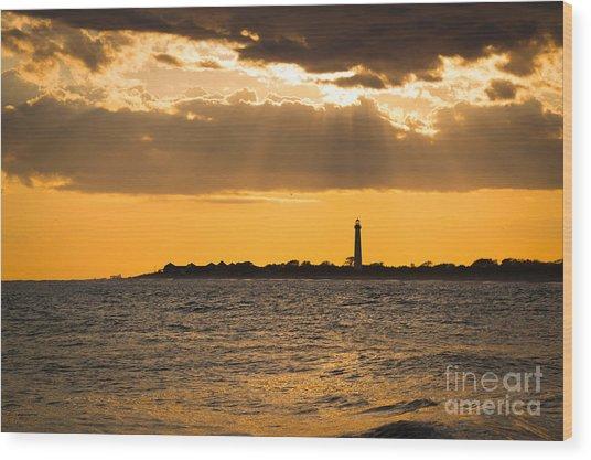 Cape May Sun Rays Wood Print