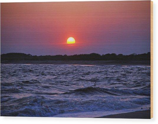 Cape May Sunset Wood Print
