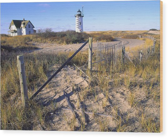 Race Point Lighthouse Cape Cod Wood Print