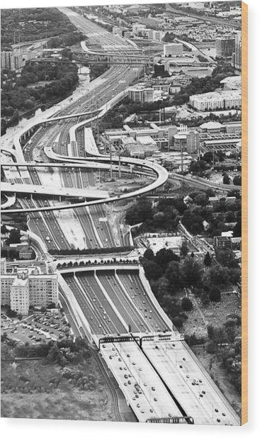 Capital Beltway Wood Print