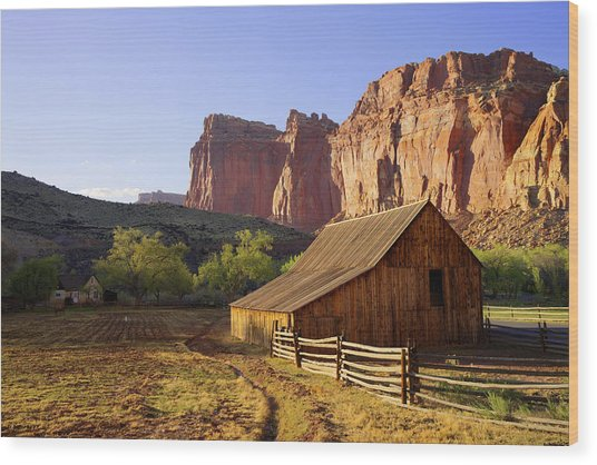 Capitol Barn Wood Print