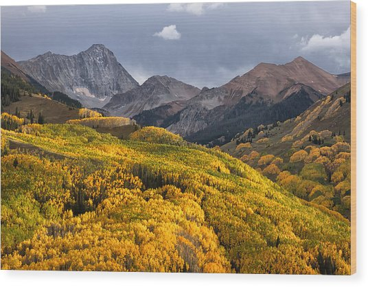 Capitol Peak In Snowmass Colorado Wood Print