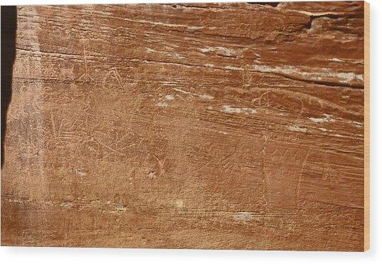 Capitol Reef Np Petroglyph Wood Print