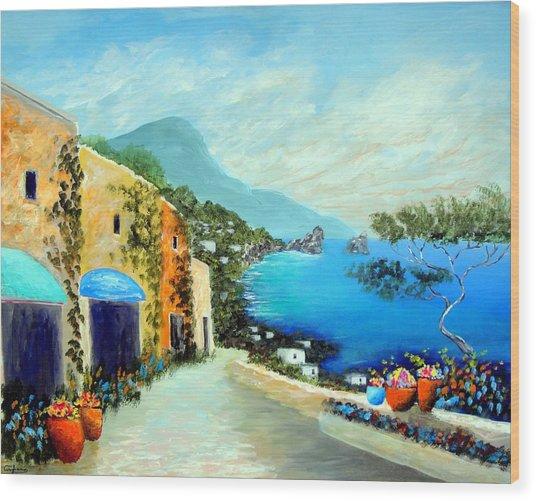 Capri Fantasies Wood Print