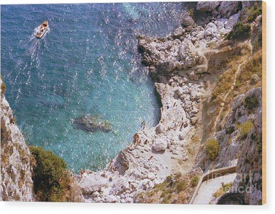 Capri Ocean Coast Wood Print