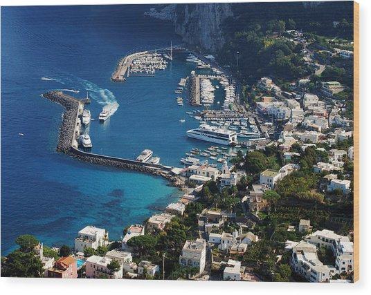 Capri Town Wood Print