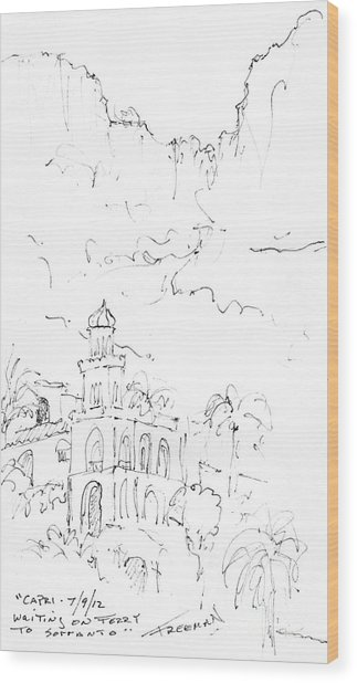 Capri Wood Print by Valerie Freeman