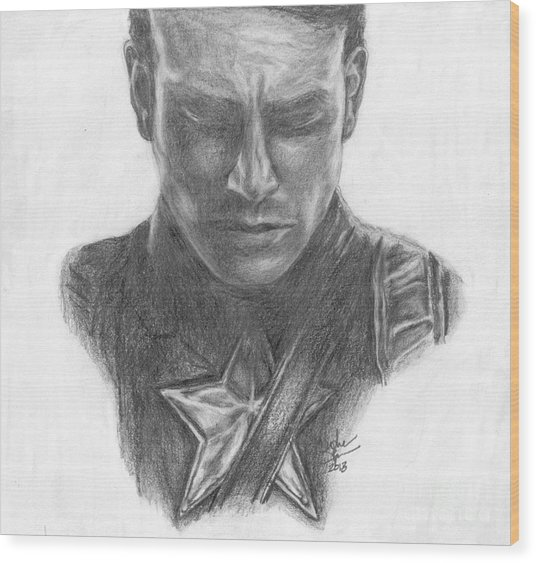 Captain America Wood Print