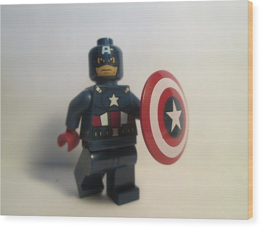 Captain America Wood Print by Harrison Matlock