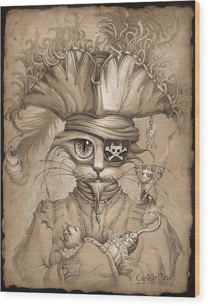 Captain Claw Wood Print by Jeff Haynie