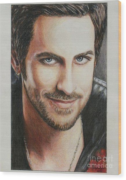 Captain Hook Wood Print