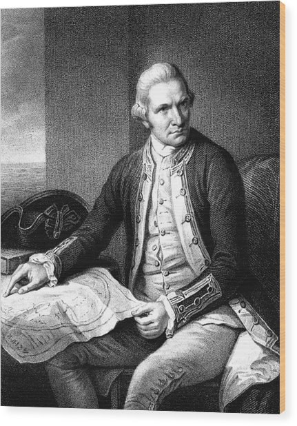 Captain James Cook Wood Print by Collection Abecasis