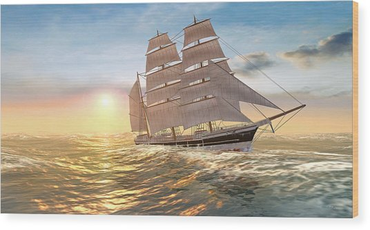 Captain Larry Paine Clippership Wood Print