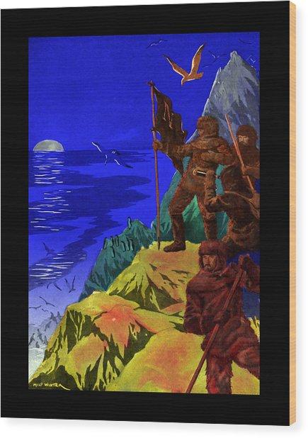 Captain Nemo Unfurled Wood Print by Jason Edwards