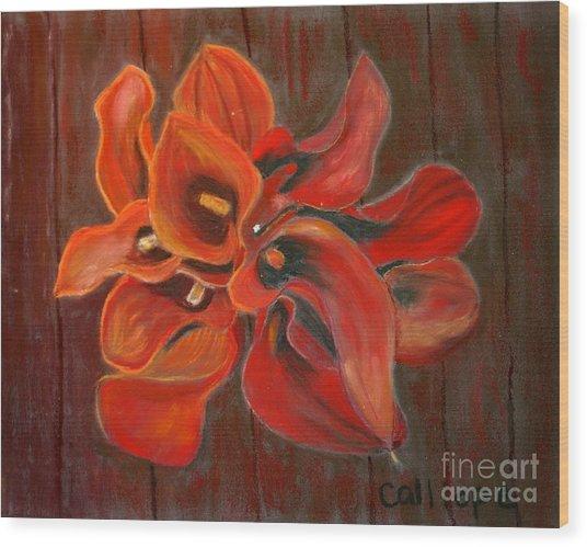 Captain Safari Bouquet Wood Print