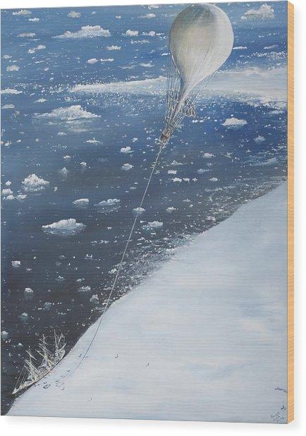 Captain Scott Antarcticas First Aeronaut Wood Print