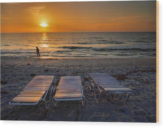 Captiva Sunset I Wood Print by Steven Ainsworth