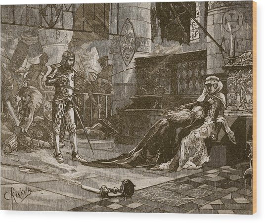 Capture Of Bruces Wife And Daughter Wood Print