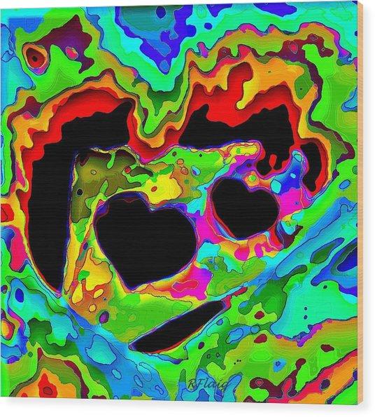 Captured My Heart Wood Print by Rebecca Flaig