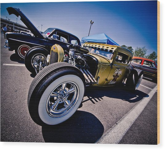 Car Candy Wood Print by Merrick Imagery