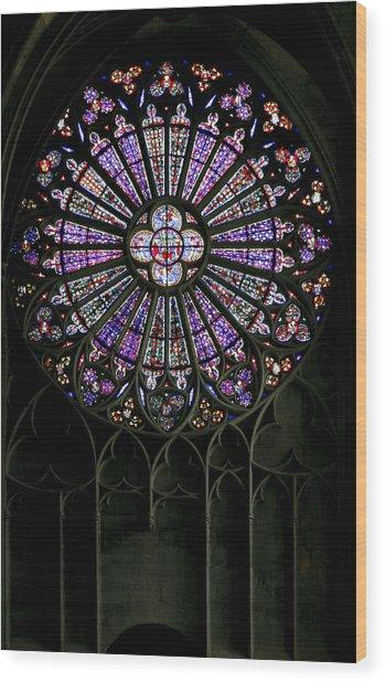 Carcassonne Rose Window Wood Print