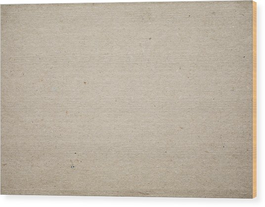 Cardboard Texture Background Wood Print by Katsumi Murouchi