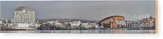 Cardiff Bay Panorama 2 Wood Print