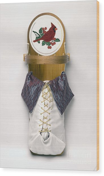 Cardinal Cradleboard Wood Print