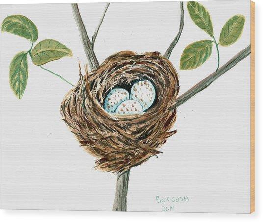 Cardinal's Nest Wood Print by Richard Goohs