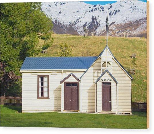 Cardrona Schoolhouse Wood Print