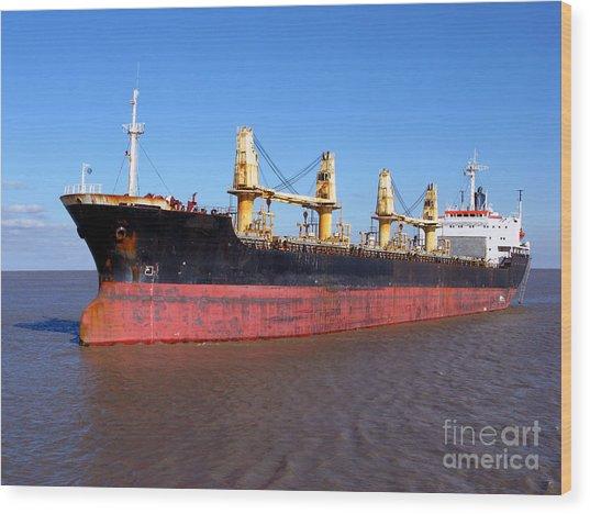 Cargo Ship Wood Print