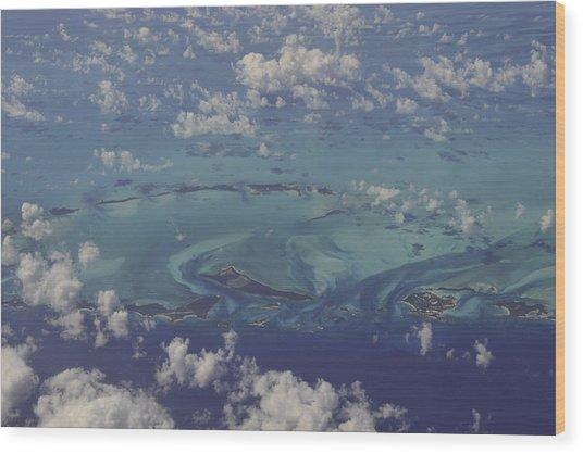 Caribbean Aerial 3 Wood Print