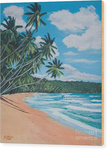 Caribbean Jewel Wood Print