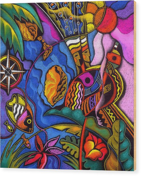 Caribbean Wood Print